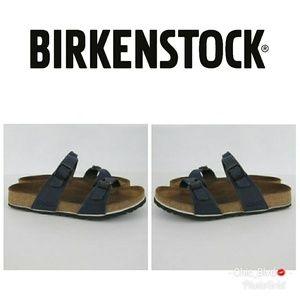 Birkenstock Birki's Tahiti Blue Slide Sandals